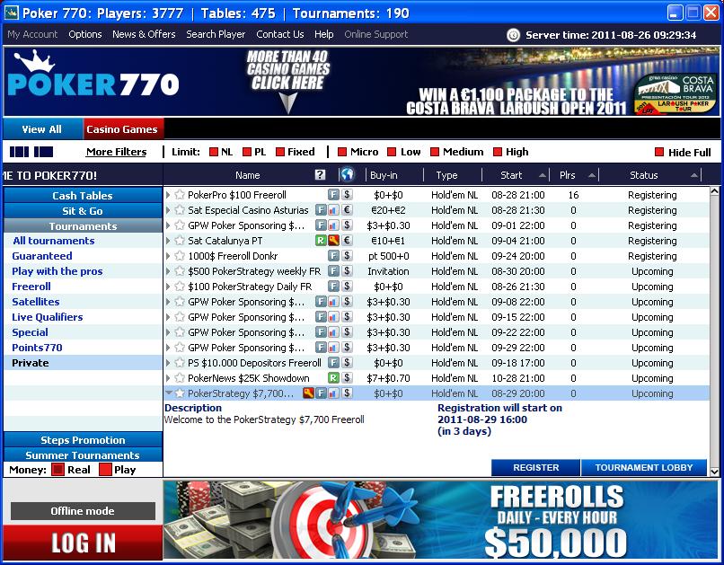 Poker freeroll password net