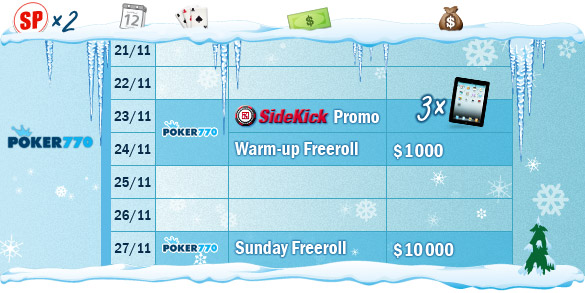 Poker770 winter schedule