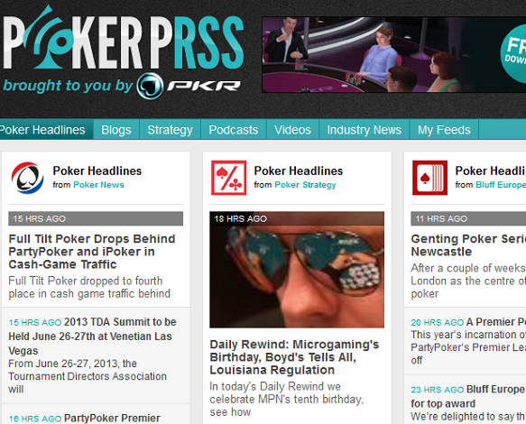 Poker RSS Feeds
