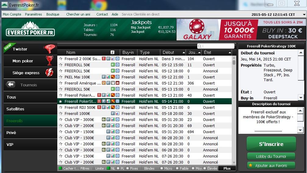 pokerstrategy freeroll