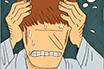 Poker Cartoon - Headache