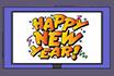 Poker Cartoon - Happy New Year