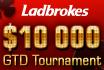 Zahlt heute bei Ladbrokes ein und verdoppelt euren Stack im $10.000 GTD